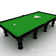 简易桌球台3d模型下载