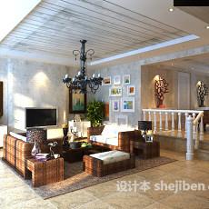 混搭风格客厅3d模型下载
