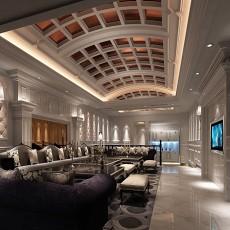 欧式豪宅客厅3d模型下载
