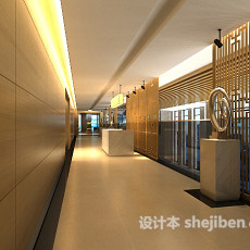 商场过道3d模型下载