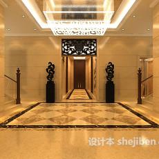 大楼进门前厅3d模型下载