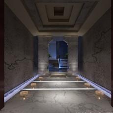中式古建筑走廊3d模型下载