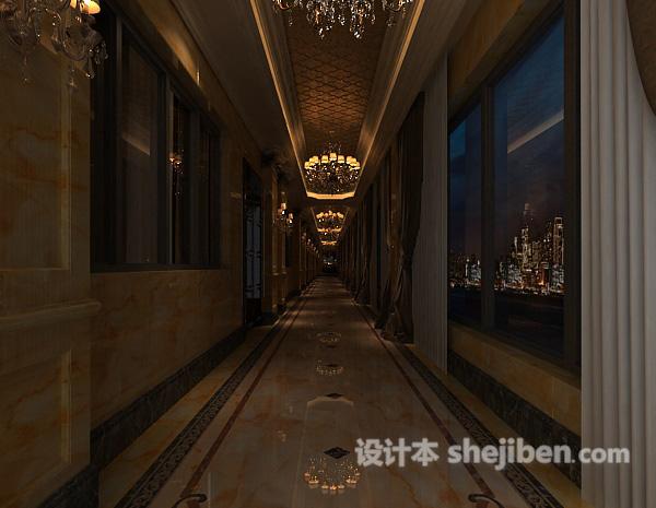 欧式酒店过道走廊