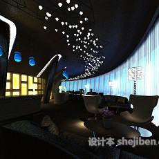 酒店休闲会所3d模型下载