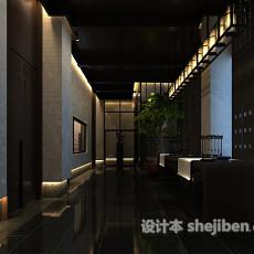 展厅走廊3d模型下载