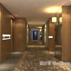 宾馆过道走廊3d模型下载