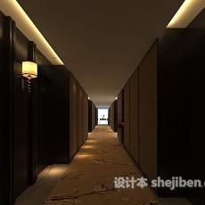 宾馆酒店走廊3d模型下载