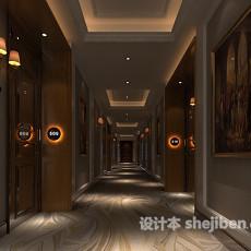 高级酒店走廊3d模型下载