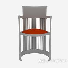 家居木椅3d模型下载