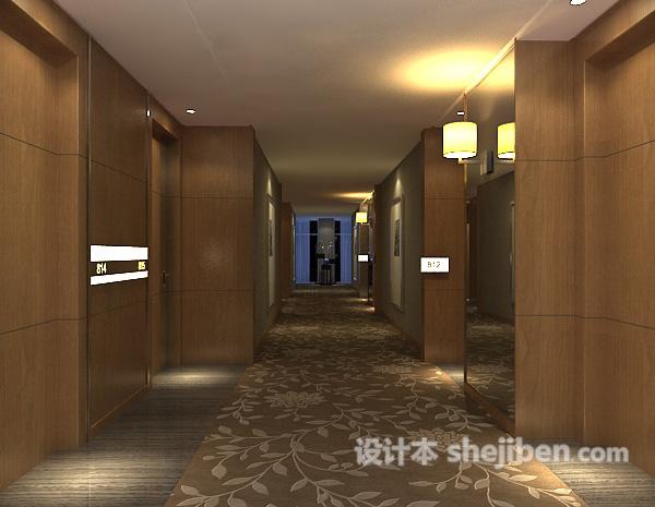 酒店会所走廊过道