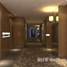 酒店会所走廊过道3d模型下载