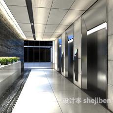 现代工装电梯走廊3d模型下载