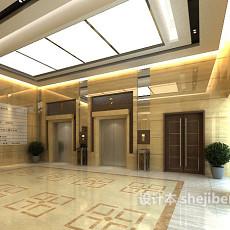 大厦电梯厅3d模型下载