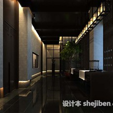中式风格走廊3d模型下载