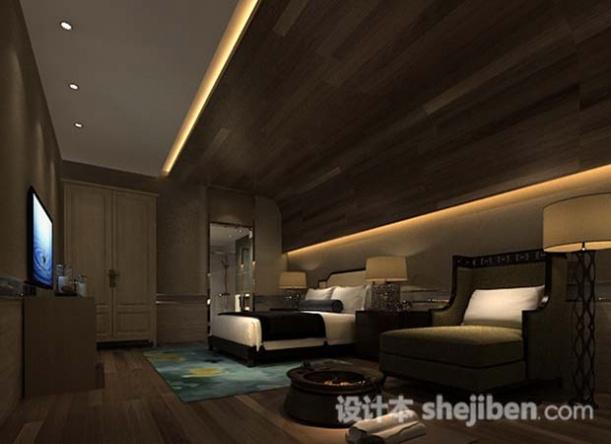 酒店休闲客房3d模型