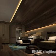 酒店休闲客房3d模型下载