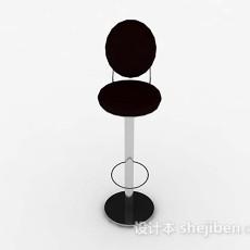 棕色高脚椅3d模型下载