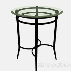简单休闲圆桌3d模型下载