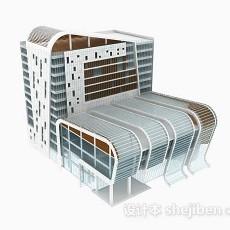 个性现代办公楼3d模型下载