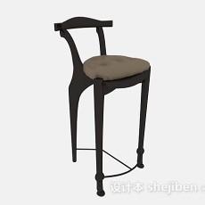 黑色高脚椅3d模型下载