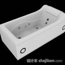 白色家居简单浴缸3d模型下载
