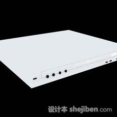 白色DVD机3d模型下载