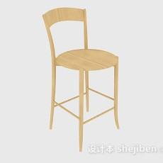 黄色家居木质椅子3d模型下载