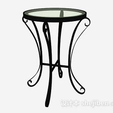 欧式铁艺圆桌3d模型下载