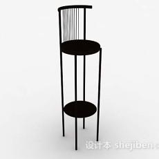 木质高脚椅子3d模型下载
