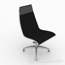 现代简约黑色椅子3d模型下载