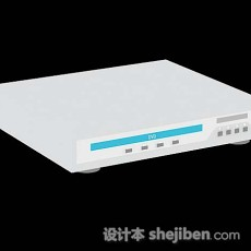 白色家庭DVD机3d模型下载