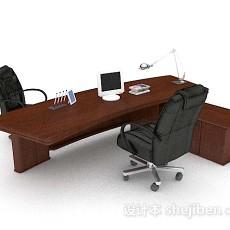 现代木质桌椅3d模型下载