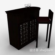 木质小吧台3d模型下载