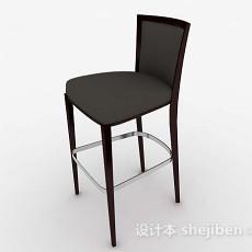 现代简约灰色高脚椅3d模型下载