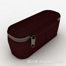 暗红色化妆包3d模型下载