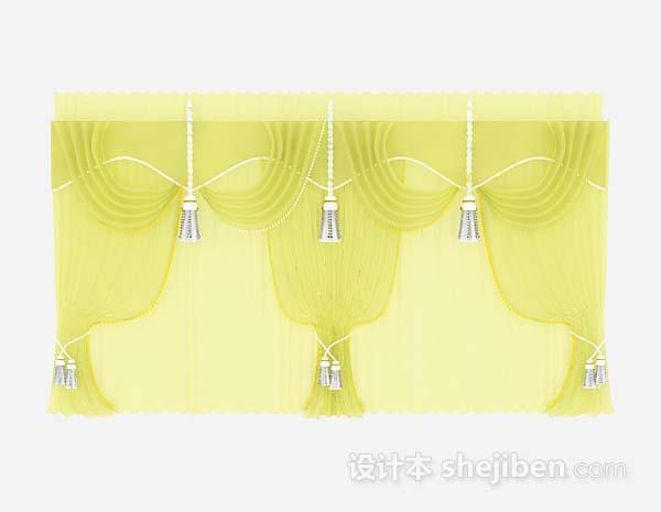 黄色纱质窗帘
