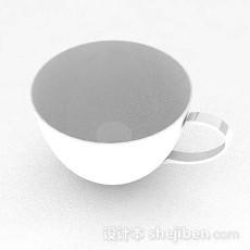 白色杯子3d模型下载