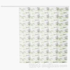 简单花纹窗帘3d模型下载