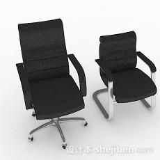 黑色简约办公椅3d模型下载