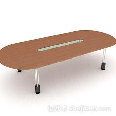 现代简约会议桌3d模型下载