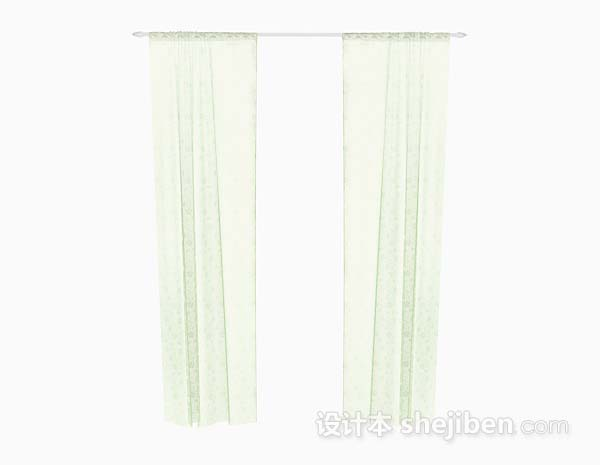 绿色纱质窗帘