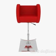 现代简约红色高脚椅3d模型下载