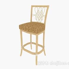 黄色高脚椅3d模型下载