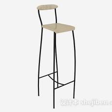现代个性高脚椅3d模型下载