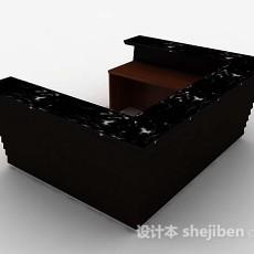 黑色石材班台3d模型下载