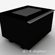 黑色班台3d模型下载