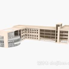 黄色教学楼3d模型下载