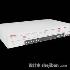 家庭白色DVD机3d模型下载