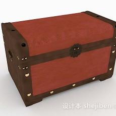 红棕色箱子3d模型下载