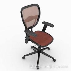 暗红色办公椅3d模型下载